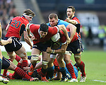 Jonny Gray of Scotland and Blair Cowan of Scotland form a rolling maul - RBS 6Nations 2015 - Scotland  vs Italy - BT Murrayfield Stadium - Edinburgh - Scotland - 28th February 2015 - Picture Simon Bellis/Sportimage
