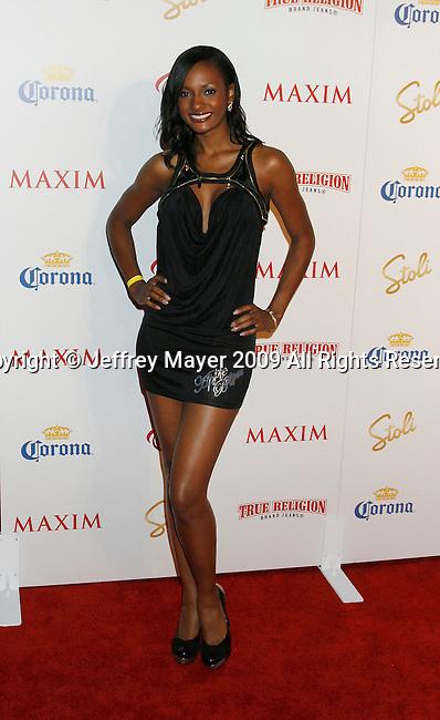 SANTA MONICA, CA. - May 13: Joslyn Pennywell arrives at the Maxim's 10th Annual Hot 100 Celebration at The Barker Hangar on May 13, 2009 in Santa Monica, California.