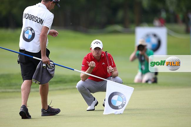 Birdie on 15 for James Morrison (ENG) during Round Three of the 2015 BMW International Open at Golfclub Munchen Eichenried, Eichenried, Munich, Germany. 27/06/2015. Picture David Lloyd | www.golffile.ie