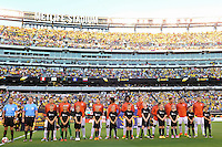 East Rutherford, NJ - Friday June 17, 2016: Colombia  after a Copa America Centenario quarterfinal match between Peru (PER) vs Colombia (COL) at MetLife Stadium.