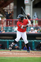 Erie SeaWolves left fielder Christin Stewart (35) at bat during a game against the Hartford Yard Goats on August 6, 2017 at UPMC Park in Erie, Pennsylvania.  Erie defeated Hartford 9-5.  (Mike Janes/Four Seam Images)