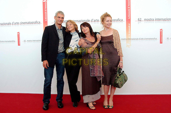 "LAURENT CANTET, CHARLOTTE RAMPLING, LOUISE PORTAL & KAREN YOUNG.Photocall for film ""Ver le Sud "" at the Venice Film Festival..September 7th, 2005.full length.www.capitalpictures.com.sales@capitalpictures.com.© Capital Pictures."