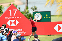 SINGAPORE - MARCH 03: Amy Olson of USA on the 17th tee during the final round of the HSBC Women's World Championship 2019 at Sentosa Golf Club - Tanjong Course, Singapore on March 03, 2019.<br /> .<br /> .<br /> .<br /> (Photo by: Naratip Golf Srisupab/SEALs Sports Images)<br /> .<br /> Any image use must include a mandatory credit line adjacent to the content which should read: Naratip Golf Srisupab/SEALs Sports Images