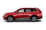 Car driver side profile view of a 2018 Mitsubishi Outlander GT 4WD 5 Door SUV