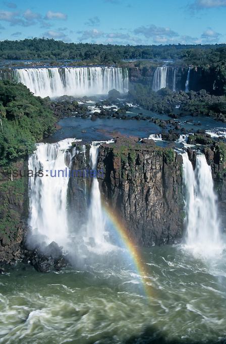 Iguazu Falls on the border between Brazil and Argentina