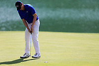 Matthew Fitzpatrick (ENG) on the 18th green during the 3rd round at the WGC HSBC Champions 2018, Sheshan Golf CLub, Shanghai, China. 27/10/2018.<br /> Picture Fran Caffrey / Golffile.ie<br /> <br /> All photo usage must carry mandatory copyright credit (&copy; Golffile | Fran Caffrey)