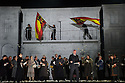 English National Opera presents THE FORCE OF DESTINY, by Verdi, directed by Calixto Bieito, at the London Coliseum. Co-production with Metropolitan Opera, New York and the Canadian Opera Company, Toronto. Picture shows: Anthony Michaels-Moore (Don Carlo di Vargas) and the company.