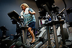 Liz Fenimore works out at the Natomas Racquet Club in Sacramento, Calif. January 17, 2011.