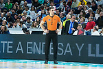 Referee Sergio Manuel during Real Madrid vs Kirolbet Baskonia game of Liga Endesa. 19 January 2020. (Alterphotos/Francis Gonzalez)