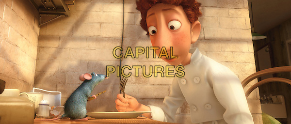 REMY (voice of Patton Oswalt) & LINGUINI (voice of Lou Romano).in Ratatouille .**Editorial Use Only**.CAP/FB.Supplied by Capital Pictures
