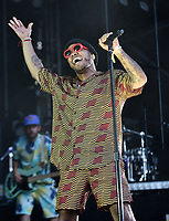 SAN FRANCISCO, CALIFORNIA - AUGUST 11: Anderson .Paak performs during the 2019 Outside Lands Music And Arts Festival at Golden Gate Park on August 11, 2019 in San Francisco, California. Photo: imageSPACE/MediaPunch<br /> CAP/MPI/IS/AB<br /> ©AB/IS/MPI/Capital Pictures