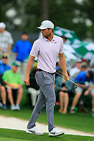 Lucas Bjerregaard (DEN) on the 18th green during the 2nd round at the The Masters , Augusta National, Augusta, Georgia, USA. 12/04/2019.<br /> Picture Fran Caffrey / Golffile.ie<br /> <br /> All photo usage must carry mandatory copyright credit (© Golffile | Fran Caffrey)