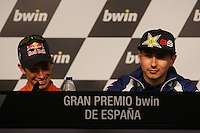 26.04.2012 SPAIN -  G.P. Bwind de España Jerez Press Conference. The picture show Jorge Lorenzo (Spanish rider Yamaha Factory Racing YAMAHA)