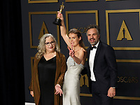09 February 2020 - Hollywood, California - Carol Dysinger, Elena Andreicheva, Mark Ruffalo attend the 92nd Annual Academy Awards presented by the Academy of Motion Picture Arts and Sciences held at Hollywood & Highland Center. Photo Credit: Theresa Shirriff/AdMedia