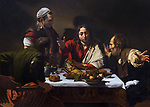 Supper at Emmaus, by Caravaggio, 1601,National Gallery, London, England, UK, GB, Europe