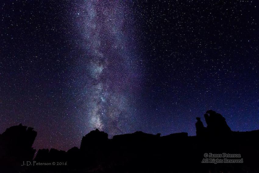 Milky Way over The Three Gossips, Utah