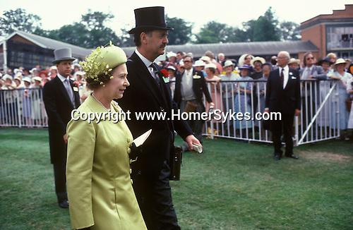 Queen Elizabeth II second at Royal  Ascot horse races racing Berkshire