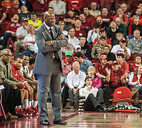NWA Democrat-Gazette/ANTHONY REYES &bull; @NWATONYR<br /> Mike Anderson, Arkansas head coach, reacts to a call while playing Tennessee in the first half Tuesday, Jan. 27, 2015 at Bud Walton Arena in Fayetteville. The Razorbacks won 69-64.