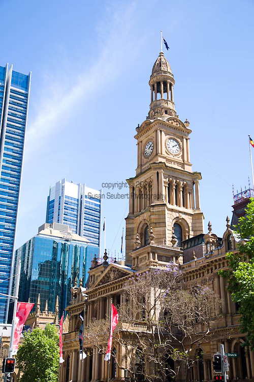 The Sydney Town Hall is a landmark sandstone building located in the heart of Sydney. It stands opposite the Queen Victoria Building.
