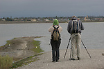 Birders at Bolsa Chica ecological reserve