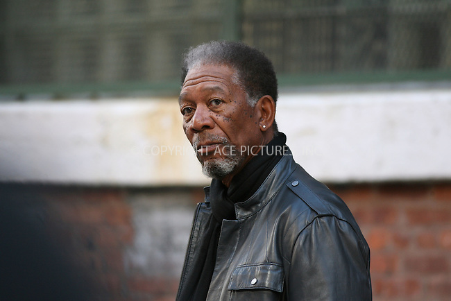 WWW.ACEPIXS.COM ** ** ** ....October 12 2007, New York City....Actor Morgan Freeman on the set of 'The Code' which was filming in Brooklyn, New York. In the movie a veteran thief (Morgan Freeman) recruits a younger one (Antono Banderas) to help him with one final job in order to repay his debt to the Russian mob.....Please byline: Philip Vaughan -- ACEPIXS.COM.. *** ***  ..Ace Pictures, Inc:  ..tel: (646) 769 0430..e-mail: info@acepixs.com..web: http://www.acepixs.com