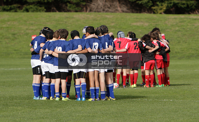 Seddon Shield Districts Primary Schools under 52kg rugby tournament. Lansdowne Park, Blenheim, New Zealand, Thursday 10 July 2014. Photo:Ricky Wilson/www.shuttersport.co.nz