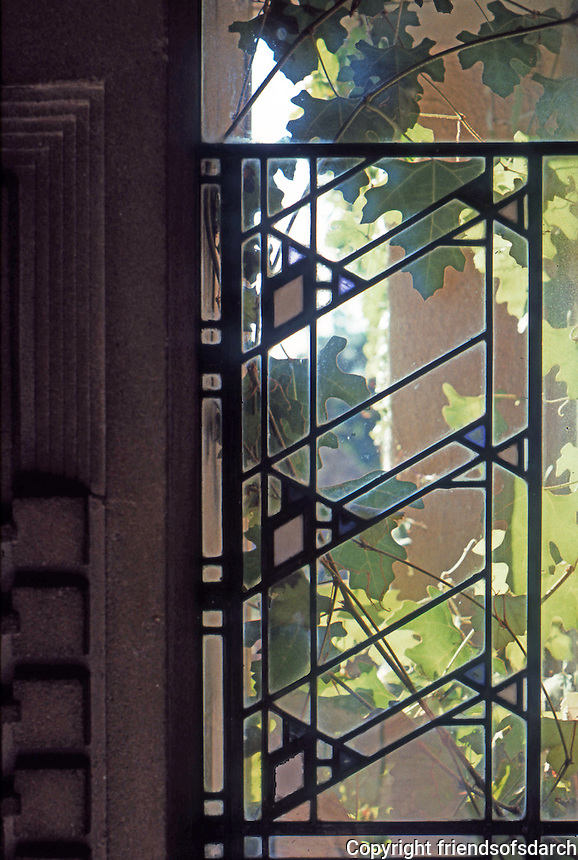 F.L. Wright: Barnsdall House--window.