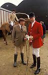 Major Ronnie Wallace and Duke of Marlborough at a Fox hunt meet Heythrop Hunt Oxfordshire England 1990s UK