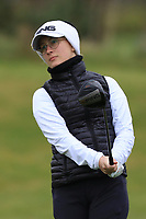 Nora Sundberg (SWE) on the 1st tee during Round 1 of the Irish Girls U18 Open Stroke Play Championship at Roganstown Golf &amp; Country Club, Dublin, Ireland. 05/04/19 <br /> Picture:  Thos Caffrey / www.golffile.ie