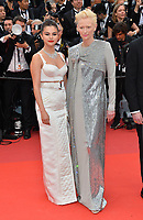 """CANNES, FRANCE. May 14, 2019: Selena Gomez & Tilda Swinton at the gala premiere for """"The Dead Don't Die"""" at the Festival de Cannes.<br /> Picture: Paul Smith / Featureflash"""