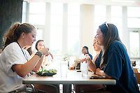 New Maroon Camp: Welcome dinner at Fresh Food Company.<br />  (photo by Megan Bean / &copy; Mississippi State University)