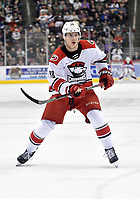 HERSHEY, PA - FEBRUARY 09: Charlotte Checkers center Martin Necas (88) reads the play during the Charlotte Checkers vs. Hershey Bears AHL game February 9, 2019 at the Giant Center in Hershey, PA. (Photo by Randy Litzinger/Icon Sportswire)