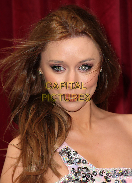 UNA HEALY - THE SATURDAYS .'An Audience with Michael Buble' at the London ITV Studios, South Bank, London, England..May 3rd, 2010.headshot portrait eyeliner make-up pink silver embellished jewel encrusted.CAP/JIL.©Jill Mayhew/Capital Pictures.