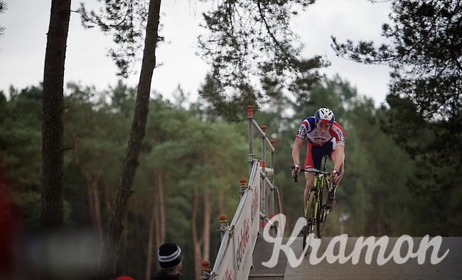 Laurens Sweeck (BEL/ERA-Murprotec) crossing the bridge<br /> <br /> 2016 Belgian National CX Championships