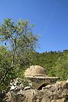 Israel, Jerusalem mountains, Deir a Sheikh in Nahal Sorek