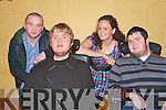 FUN TIME: Having a fun time at the Comedy Night in aid of Muscular Dystrophy at the Meadowlands Hotel on Friday l-r: Markus Long, Patrick Flanagan, Maryrose O'Driscoll and Daniel Stack.