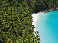 View of Gibney beach.St. John, Virgin Islands National Park