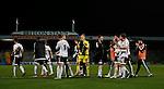 Sheffield Utd players applaud the fans - English League One - Scunthorpe Utd vs Sheffield Utd - Glandford Park Stadium - Scunthorpe - England - 19th December 2015 - Pic Simon Bellis/Sportimage