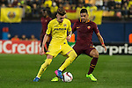 Samuel Castillejo Azuaga of Villarreal CF fights for the ball with Emerson of AS Roma during the match Villarreal CF vs AS Roma during their UEFA Europa League 2016-17 Round of 32 match at the Estadio de la Cerámica on 16 February 2017 in Villarreal, Spain. Photo by Maria Jose Segovia Carmona / Power Sport Images