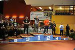 12 MAR 2016:  The men's Shot Put podium during the Division I Men's Indoor Track & Field Championship held at the Birmingham Crossplex in Birmingham, Al. Tom Ewart/NCAA Photos