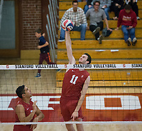 STANFORD, CA - December 30, 2017: Chris Moore at Burnham Pavilion. The Stanford Cardinal defeated the Calgary Dinos 3-1.