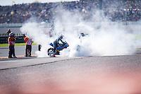 VALENCIA, SPAIN - NOVEMBER 8: Tito Rabat, Alex Marquez during Valencia MotoGP 2015 at Ricardo Tormo Circuit on November 8, 2015 in Valencia, Spain