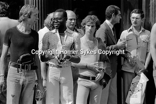 The Markham Arms. A well know gay pub  and meeting place in the Kings Road, Chelsea, London UK 1975.