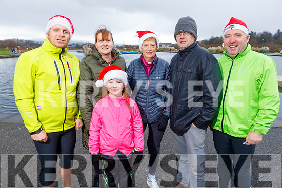 Brendan O'Keeffe, Norma Moore, Aisling O'Keeffe, Jennifer Crowley, Noel Moore and Niall Lynch at the Fiona Moore Memorial 5k Fun Run in the Tralee Bay Wetlands on Sunday morning.