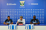 Youssef En-Nesyri and Allan Romeo Nyom during his official presentation at Instalacion Deportiva Butarque in Leganes, Spain. August 22, 2018. (ALTERPHOTOS/A. Perez Meca)