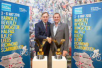 Picture by Alex Whitehead/SWpix.com - 28/09/2017 - Cycling - 2018 Tour de Yorkshire Preview - Start and Finish Towns Announcement. Sir Gary Verity and Bob Howden.