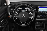 Car pictures of steering wheel view of a 2016 Mitsubishi Outlander GT 5 Door SUV Steering Wheel