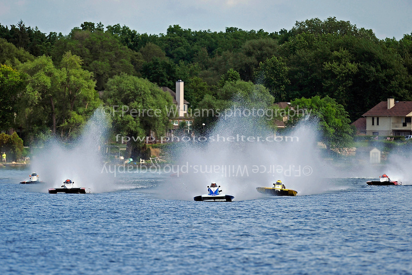 """(L to R):Karen Toulouse, A-7 """"Southern Magic"""", Andrew Tate, A-25 """"Fat Chance"""", A-64 """"Blue Devil"""", Joe Sovie, A-23 """"Geezerboat"""" and Tom Thompson, A-52 """"Fat Chance Too""""  (2.5 MOD class hydroplane(s)"""