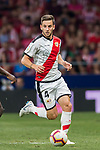 Alvaro Medran of Rayo Vallecano in action during the La Liga 2018-19 match between Atletico de Madrid and Rayo Vallecano at Wanda Metropolitano on August 25 2018 in Madrid, Spain. Photo by Diego Souto / Power Sport Images