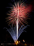The Carson Valley Christmas Kickoff fireworks display at Heritage Park in Gardnerville, Nev., on Thursday, Nov. 30, 2017. <br />Photo by Cathleen Allison/Nevada Momentum